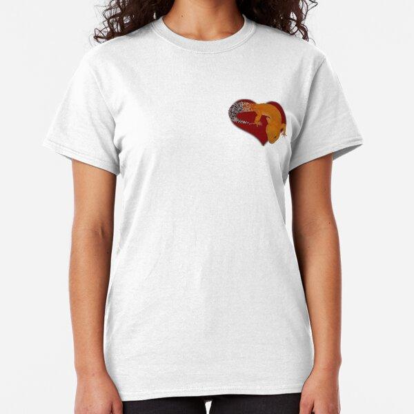 Leopard Gecko Tangerine Tornado Heart Classic T-Shirt