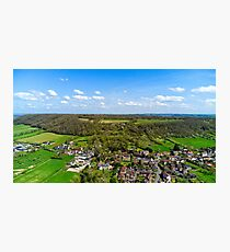 Aller Somerset Drone View Photographic Print