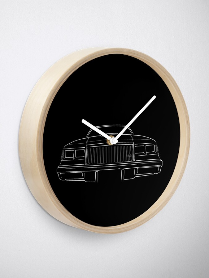 Alternate view of 1987 Buick GNX Grand National - front stencil, white Clock
