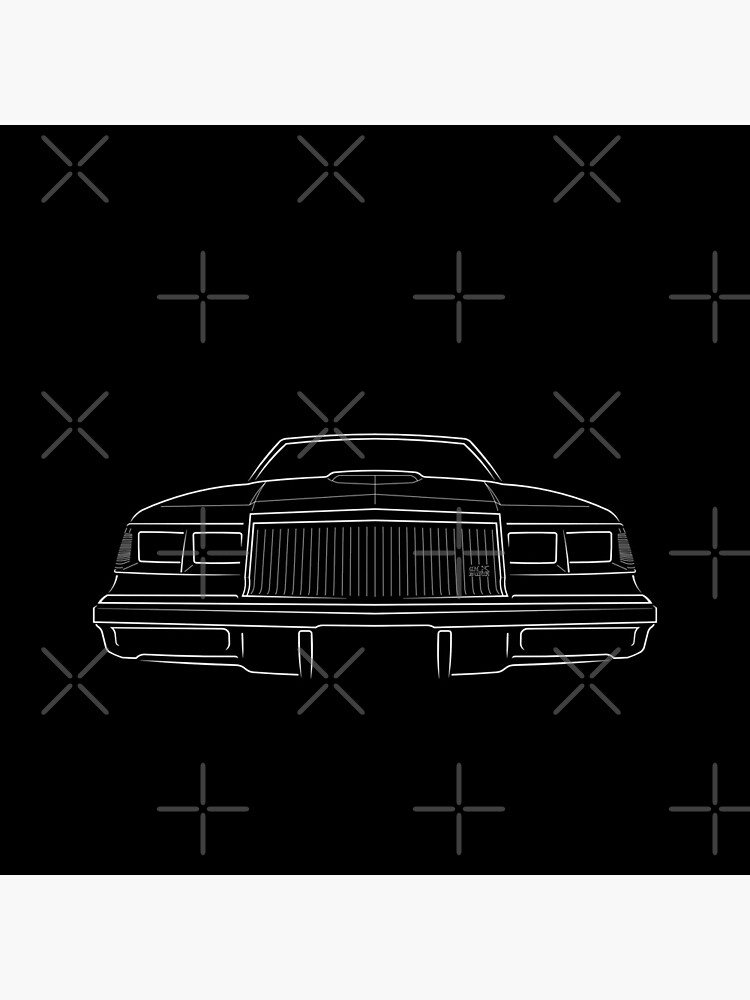 1987 Buick GNX Grand National - front stencil, white by mal-photography