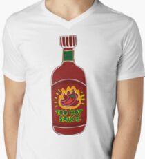 Too Hot Sauce  Men's V-Neck T-Shirt