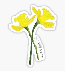 'You Will Bloom' Daffodils Sticker