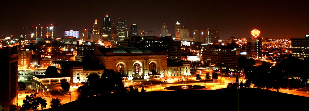Kansas City At Night by David Dunham
