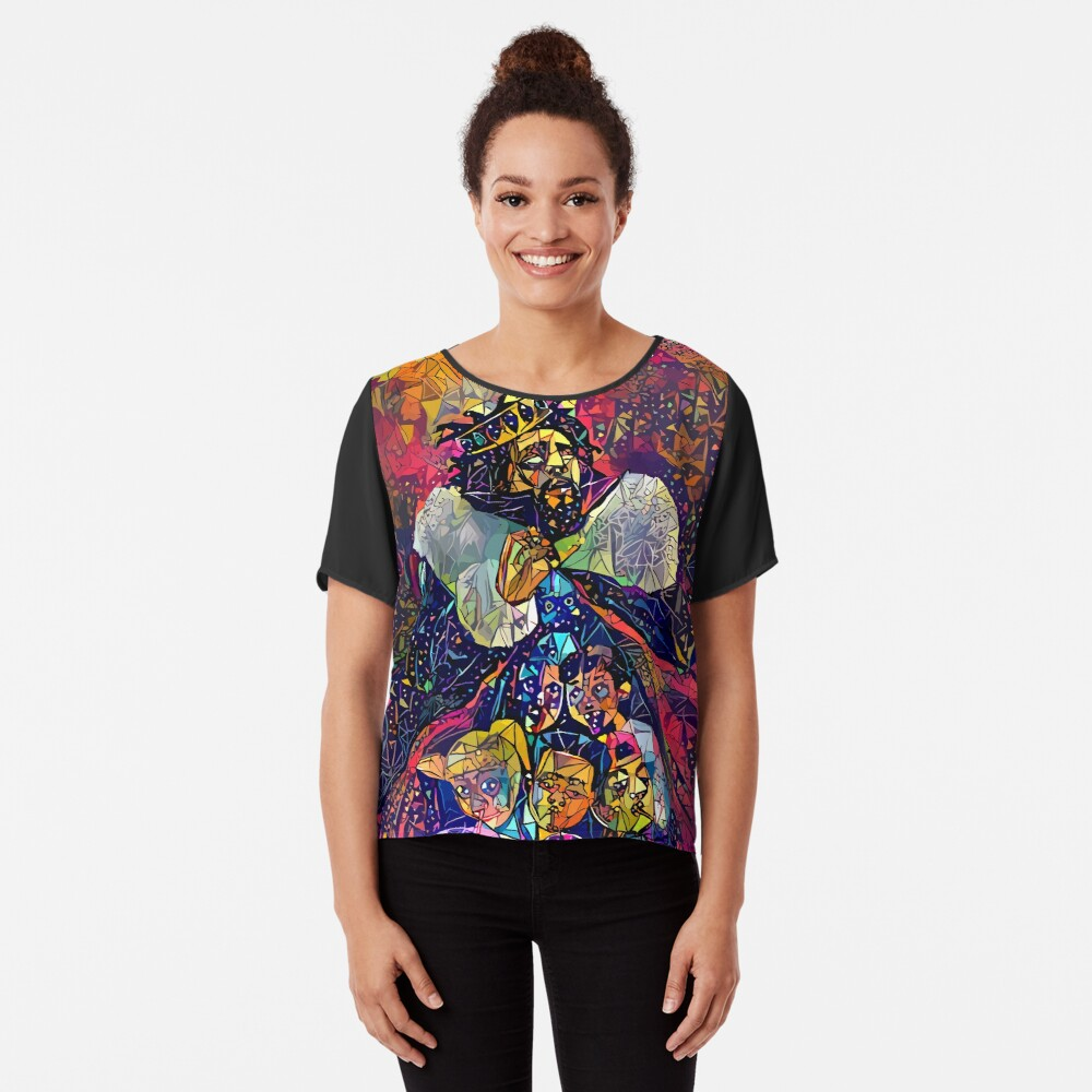 Abstract KOD Chiffon Top