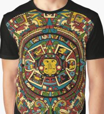 Aztec Mayan Calendar Graphic T-Shirt