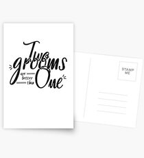 LGBT Gay Wedding Shirt and Gifts - Two Grooms Are Better Than One Postcards