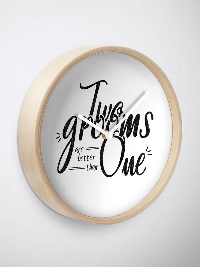 Vista alternativa de Reloj Camisa y regalos de la boda gay LGBT - Dos novios son mejores que uno
