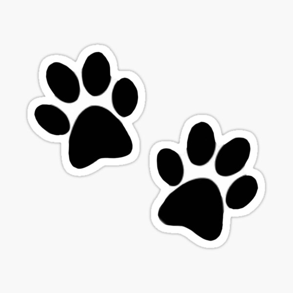 Pair of paw prints Sticker