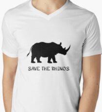 Save the Rhinos Men's V-Neck T-Shirt