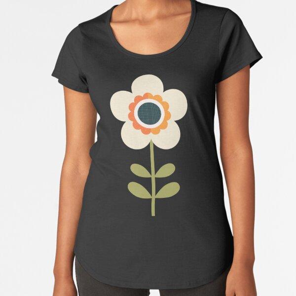 Retro Blossom - Orange and Cream Premium Scoop T-Shirt