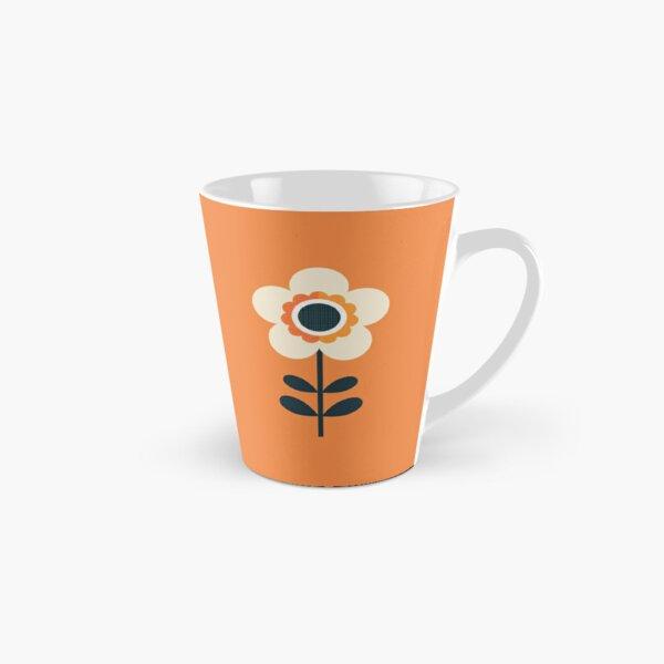 Retro Blossom - Orange and Cream Tall Mug
