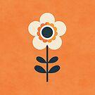 Retro Blossom - Orange and Cream by daisy-beatrice