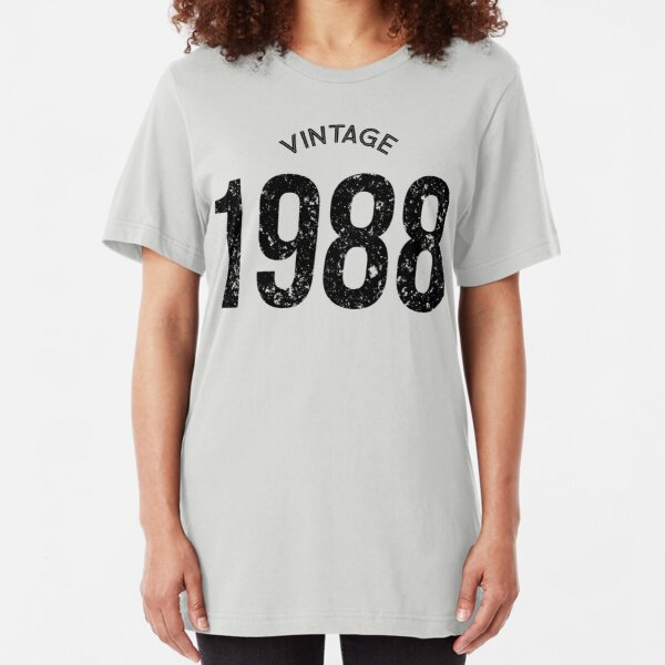 Made in 30th Birthday Present Gift New Retro Vintage  Ladies T-shirt  1988