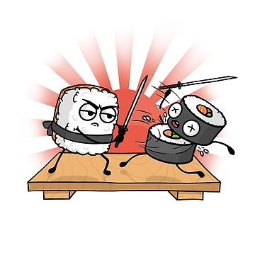 Sushi Samurai Battle by seteki