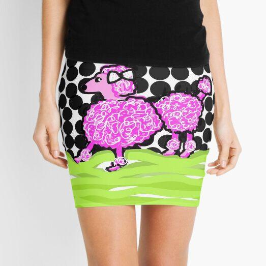 Pink Poodle Mini Skirt