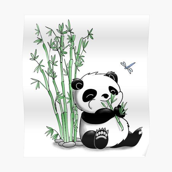 Panda Eating Bamboo Poster