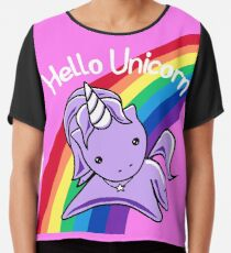 Hello Unicorn (Clean) Most Accurate Altered Carbon Chiffon Top
