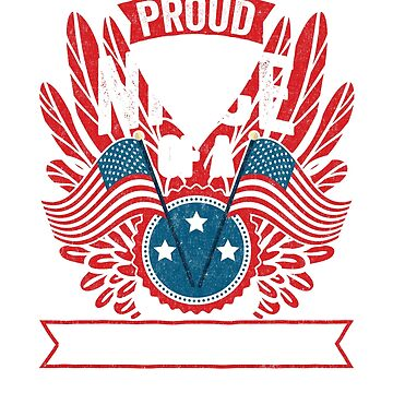 Proud Niece of a Strong Hispanic Veteran Shirt and Gifts by nvdesign
