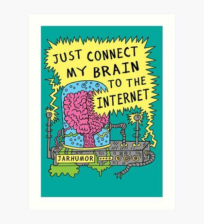 Cerebro de Internet Lámina artística