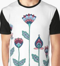 Spring Flowers White Graphic T-Shirt