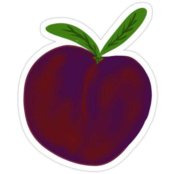 Plum Hand-Painted in Reddish Purple