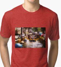 Amsterdam, Holland • Canal Bridge Tri-blend T-Shirt