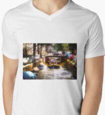 Amsterdam, Holland • Canal Bridge Men's V-Neck T-Shirt