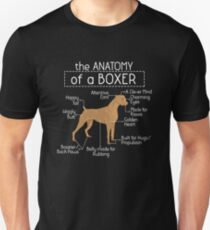 Anatomy of a Boxer T'shirt Boxer Lover Shirt Unisex T-Shirt