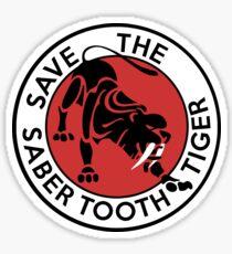 Saber Tooth Tiger Big Cat Conservation Sticker