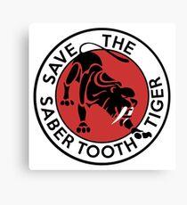 Saber Tooth Tiger Big Cat Conservation Canvas Print