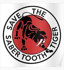 Saber Tooth Tiger Big Cat Conservation Poster
