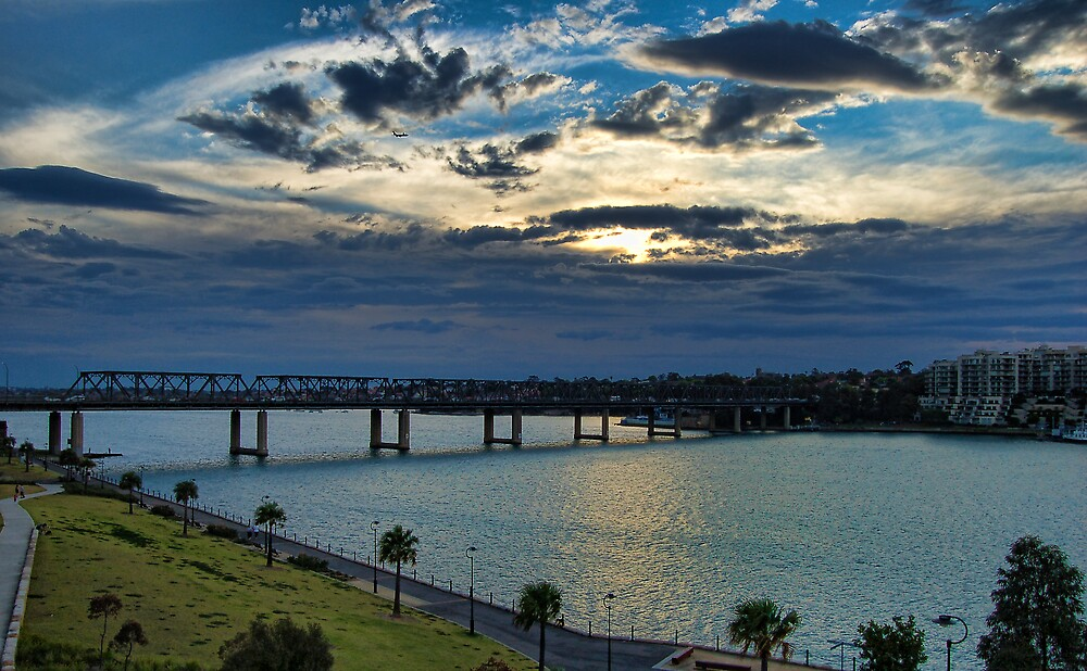 Cloudy Escape - Iron Cove Bridge Balmain by Jason Ruth