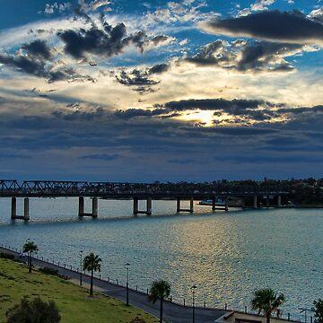 Cloudy Escape - Iron Cove Bridge Balmain by scatrdjason