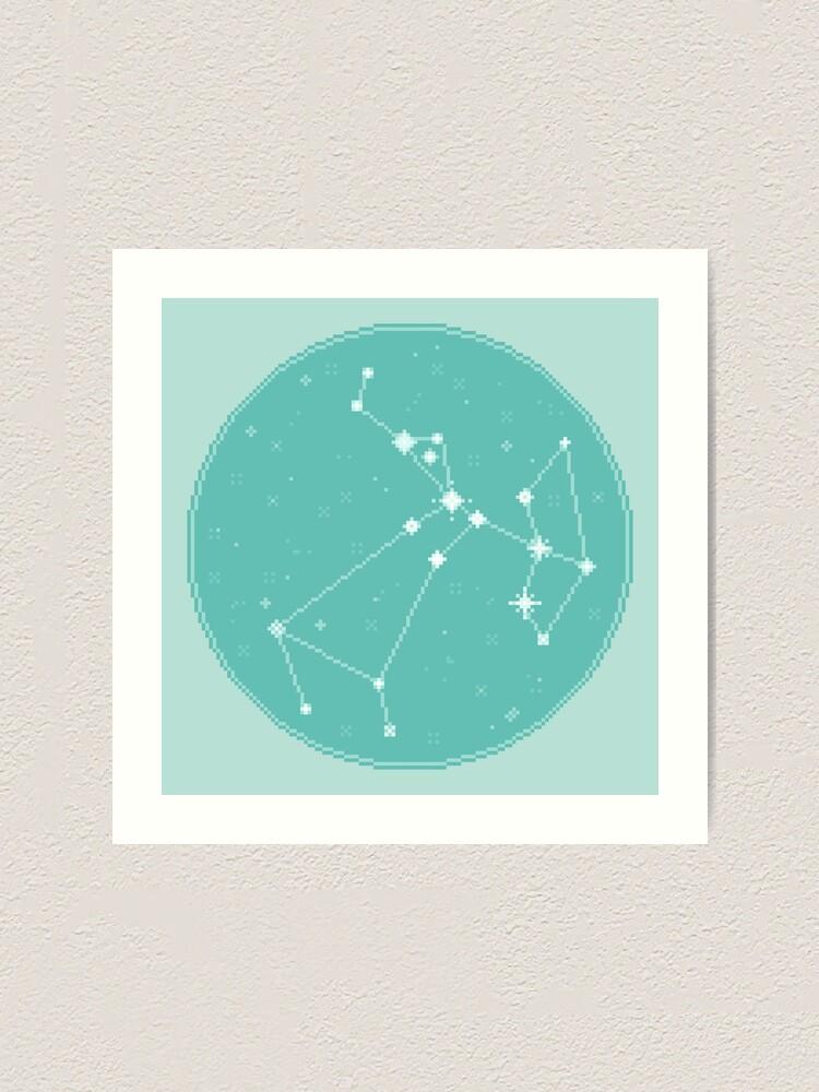 Alternate view of 8bit Constellations:  Sagittarius Art Print
