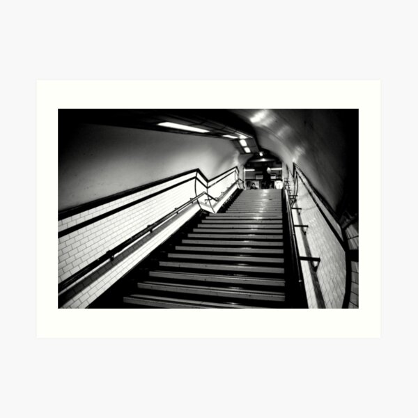 Exit in black and white Art Print