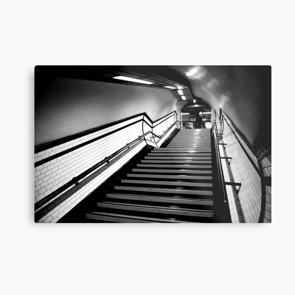 Exit in black and white Metal Print