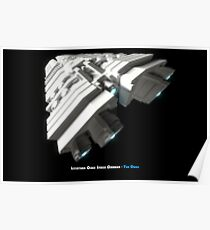8 Bit Pixel Spaceship Leviathan Class Space Carrier - The Duke Poster