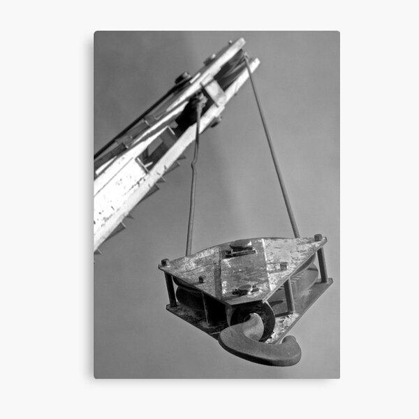 Abandoned Crane Metal Print