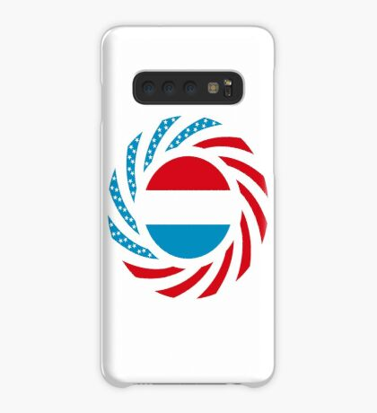 Luxembourgish American Multinational Patriot Flag Series Case/Skin for Samsung Galaxy