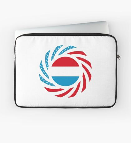 Luxembourgish American Multinational Patriot Flag Series Laptop Sleeve