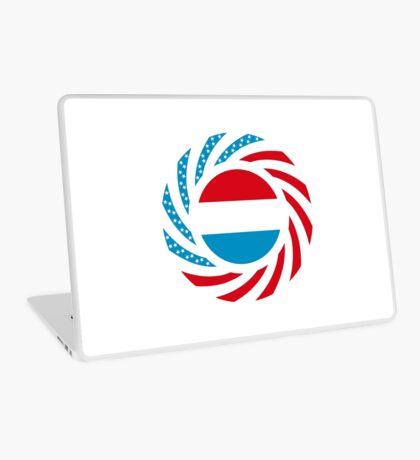 Luxembourgish American Multinational Patriot Flag Series Laptop Skin