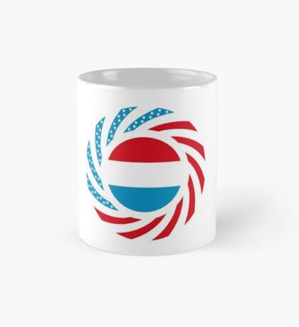Luxembourgish American Multinational Patriot Flag Series Mug