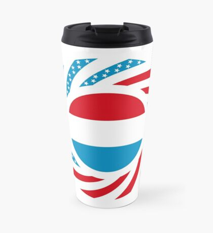 Luxembourgish American Multinational Patriot Flag Series Travel Mug