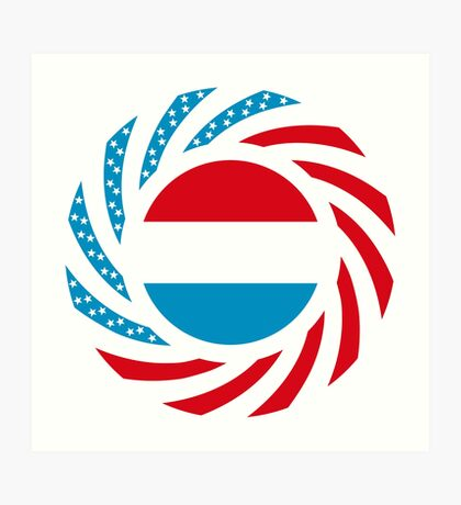 Luxembourgish American Multinational Patriot Flag Series Art Print