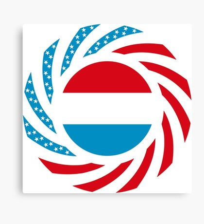 Luxembourgish American Multinational Patriot Flag Series Canvas Print