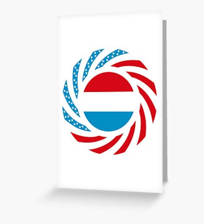 Luxembourgish American Multinational Patriot Flag Series Greeting Card