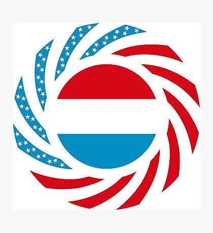 Luxembourgish American Multinational Patriot Flag Series Photographic Print