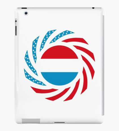 Luxembourgish American Multinational Patriot Flag Series iPad Case/Skin