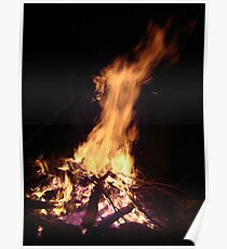 The horse head and the calf head in the  Fire see it? Poster