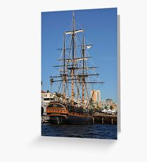 Docked in San Diego Bay  Greeting Card